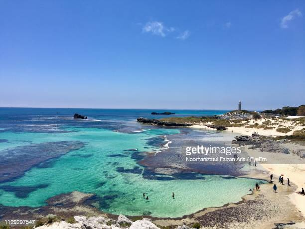 scenic view of sea against blue sky - perth stock pictures, royalty-free photos & images
