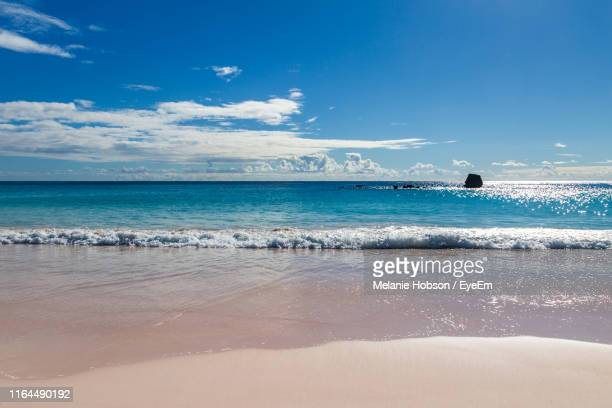 scenic view of sea against blue sky - bermuda stock pictures, royalty-free photos & images