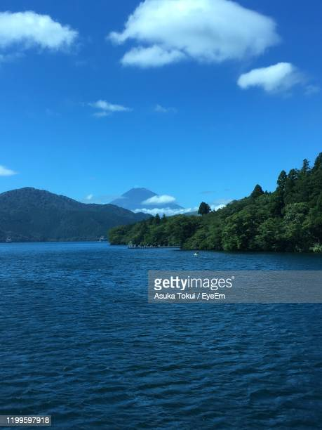 scenic view of sea against blue sky - asuka stock pictures, royalty-free photos & images