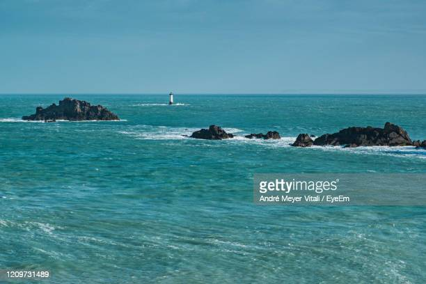 scenic view of sea against blue sky - ille et vilaine stock pictures, royalty-free photos & images