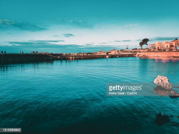 scenic view of sea against blue sky - alexandria stock pictures, royalty-free photos & images