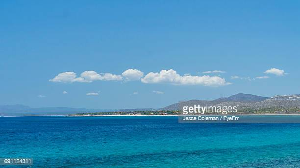 scenic view of sea against blue sky - jesse coleman stock pictures, royalty-free photos & images