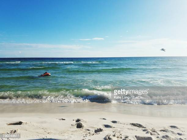 scenic view of sea against blue sky - panama city beach stock pictures, royalty-free photos & images