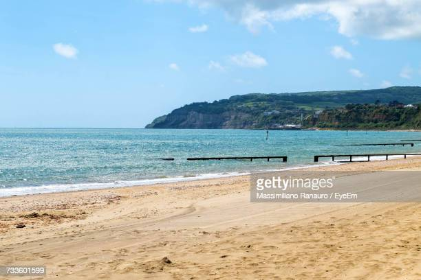 scenic view of sea against blue sky - massimiliano ranauro stock pictures, royalty-free photos & images