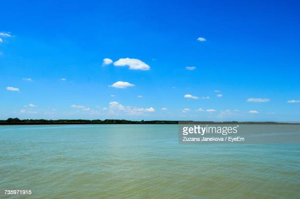 scenic view of sea against blue sky - zuzana janekova stock pictures, royalty-free photos & images