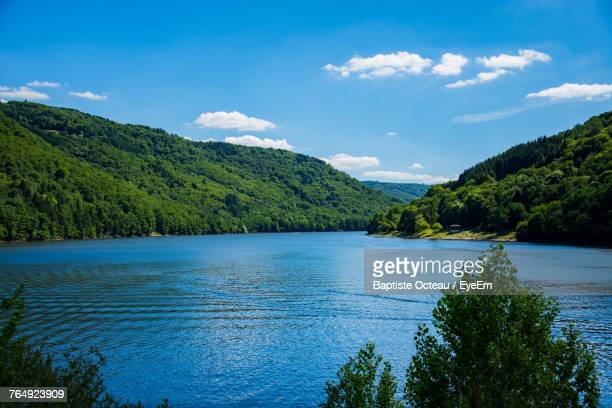 scenic view of sea against blue sky - auvergne stock pictures, royalty-free photos & images