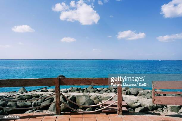 scenic view of sea against blue sky - jiddah stock pictures, royalty-free photos & images