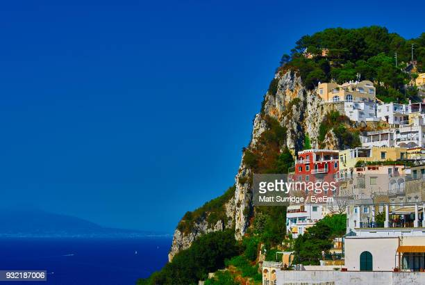 scenic view of sea against blue sky - capri stock pictures, royalty-free photos & images