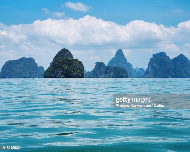 scenic view of sea against blue sky - surat thani province stock pictures, royalty-free photos & images