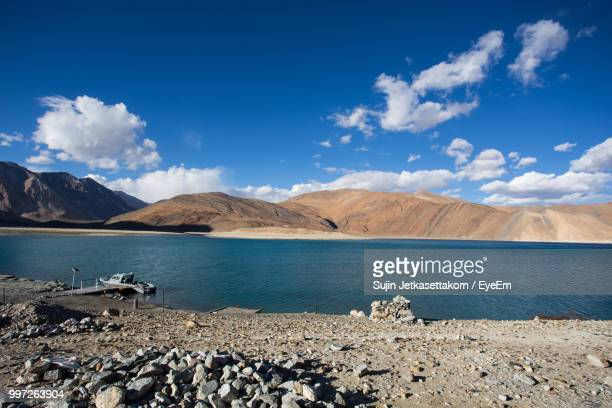 scenic view of sea against blue sky - indore stock photos and pictures