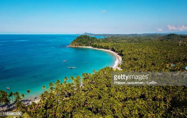scenic view of sea against clear blue sky - myanmar stock pictures, royalty-free photos & images