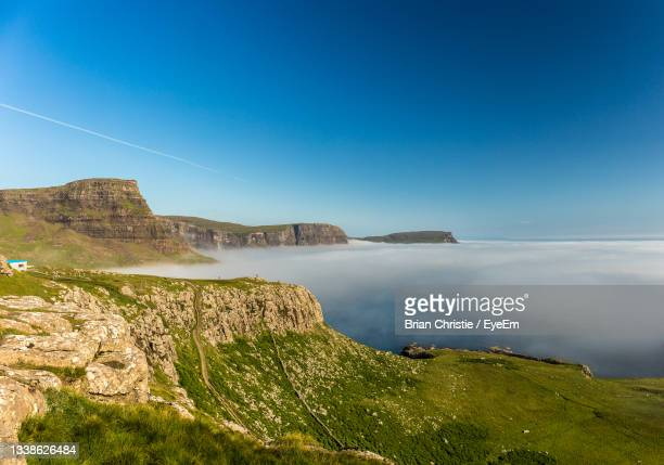 scenic view of sea against clear blue sky - space and astronomy stock pictures, royalty-free photos & images