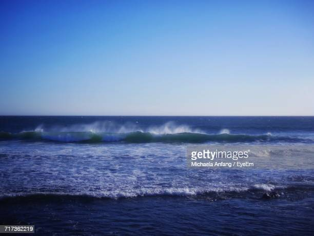 scenic view of sea against clear blue sky - anfang stock pictures, royalty-free photos & images
