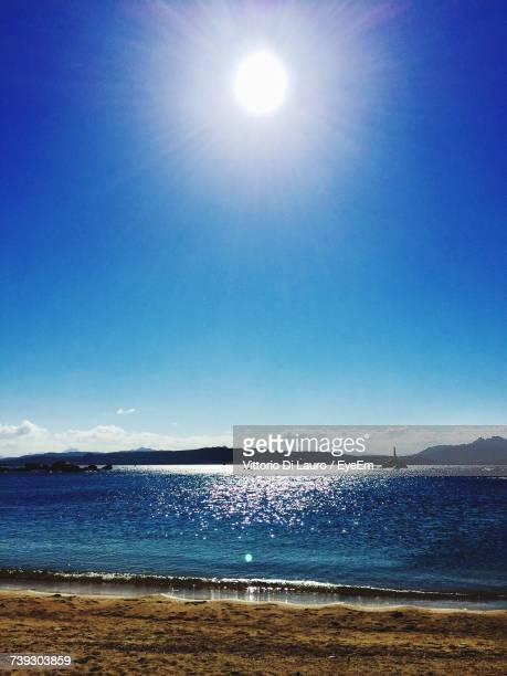 scenic view of sea against clear blue sky - lauro stock pictures, royalty-free photos & images