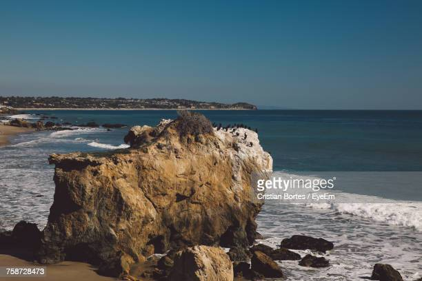 scenic view of sea against clear blue sky - bortes stock photos and pictures