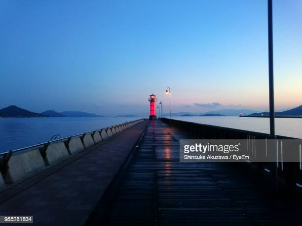 scenic view of sea against clear blue sky - kagawa ストックフォトと画像