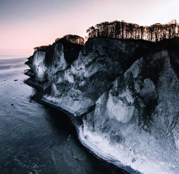 Scenic view of sea against clear sky during winter,Elmealle,Vordingborg,Denmark