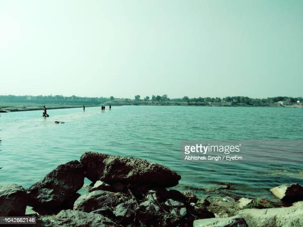 Scenic View Of Sea Against Clear Sky During Sunny Day