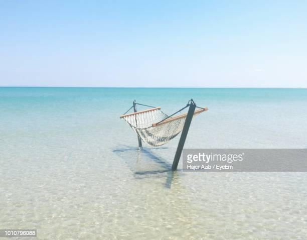 scenic view of sea against clear sky - tunisia stock pictures, royalty-free photos & images