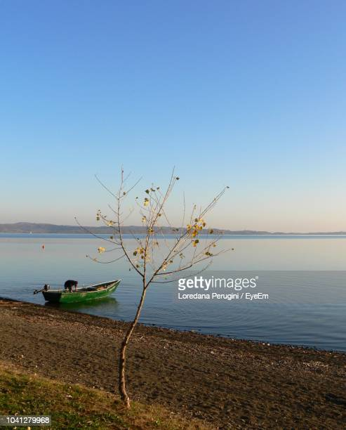 scenic view of sea against clear sky - loredana perugini stock pictures, royalty-free photos & images