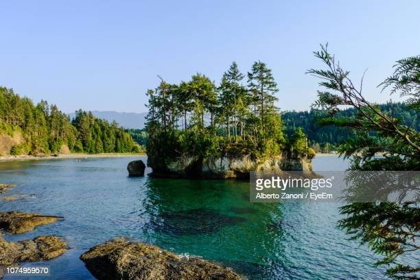 scenic view of sea against clear sky - olympic park stock pictures, royalty-free photos & images