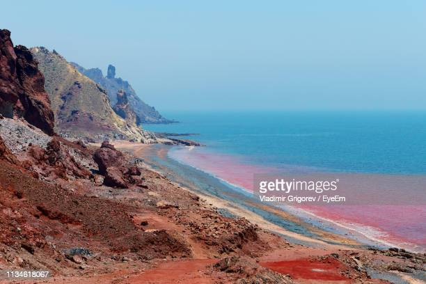 scenic view of sea against clear sky - red sea stock pictures, royalty-free photos & images