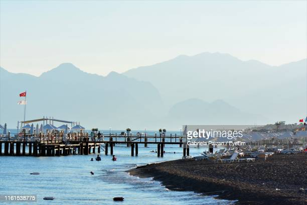 scenic view of sea against clear sky - gabriela stock pictures, royalty-free photos & images