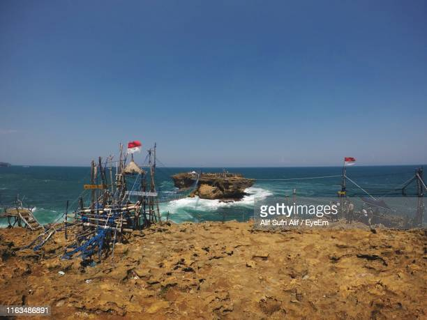 scenic view of sea against clear sky - cari stock pictures, royalty-free photos & images