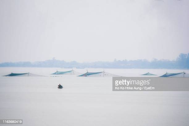 scenic view of sea against clear sky - ko ko htike aung stock pictures, royalty-free photos & images