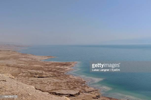 scenic view of sea against clear sky - marina langner foto e immagini stock