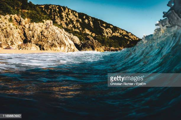 "scenic view of sea against clear sky - ""christian richter"" stock pictures, royalty-free photos & images"