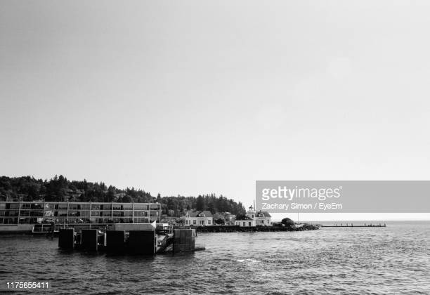 scenic view of sea against clear sky - north pacific stock pictures, royalty-free photos & images
