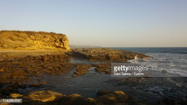 scenic view of sea against clear sky - sahne ストックフォトと画像