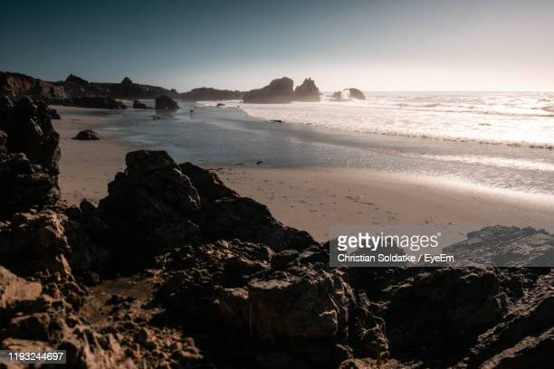 scenic view of sea against clear sky - christian soldatke stock pictures, royalty-free photos & images