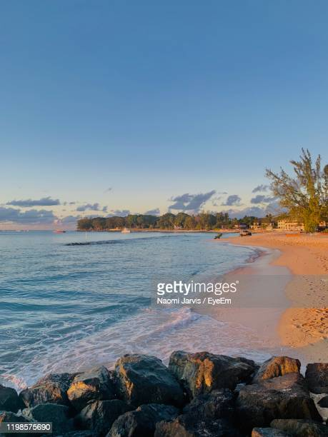scenic view of sea against clear sky - naomi jarvis stock pictures, royalty-free photos & images