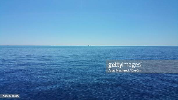 scenic view of sea against clear sky - horizon over water stock pictures, royalty-free photos & images