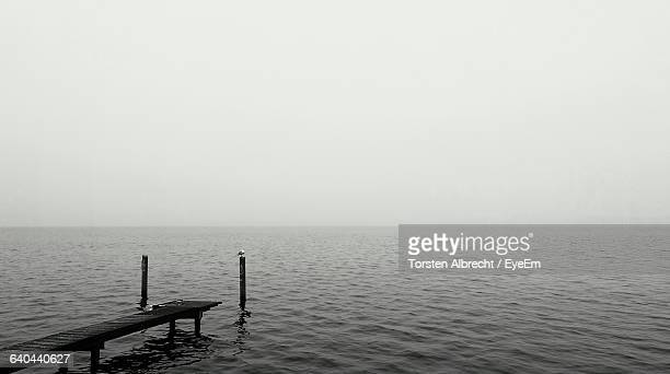 scenic view of sea against clear sky - köpenick stock pictures, royalty-free photos & images