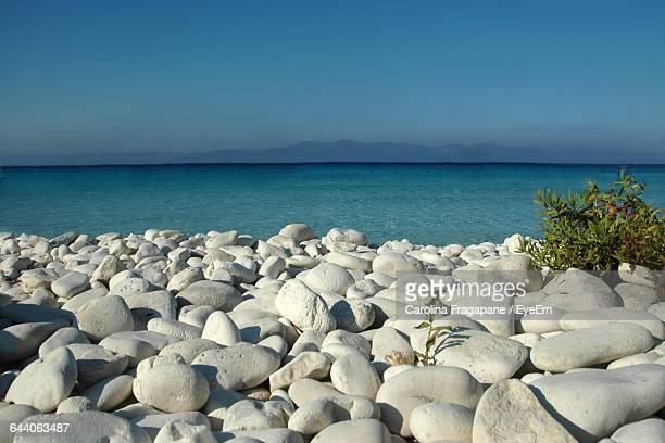 scenic view of sea against clear sky - carolina fragapane stock pictures, royalty-free photos & images