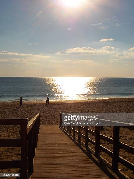 scenic view of sea against clear sky - alvor stock pictures, royalty-free photos & images