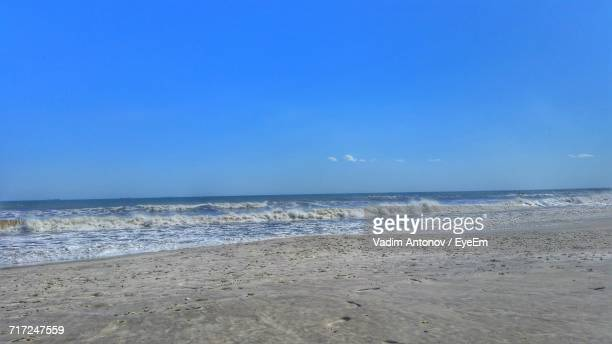 scenic view of sea against clear sky - antonov stock pictures, royalty-free photos & images