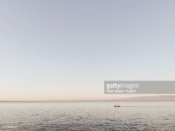 scenic view of sea against clear sky - boban stock pictures, royalty-free photos & images