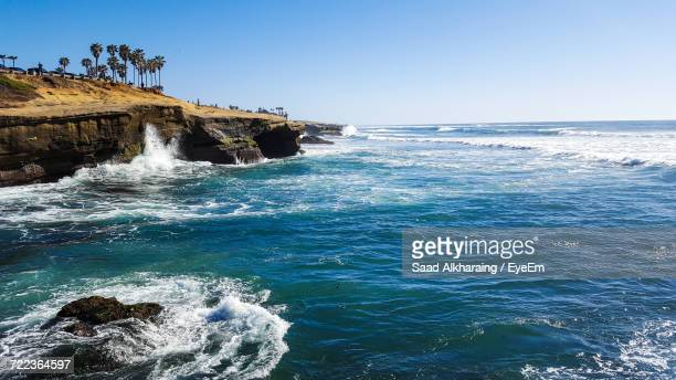 scenic view of sea against clear sky - norristown stock pictures, royalty-free photos & images
