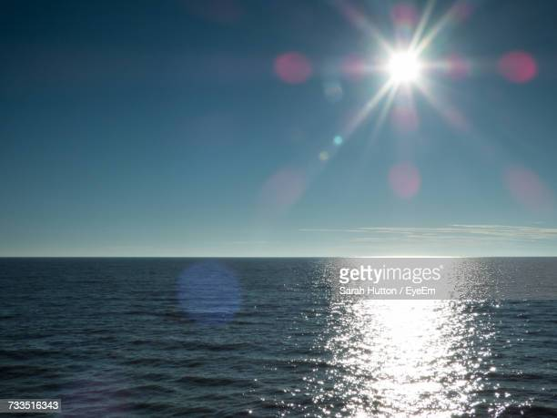 scenic view of sea against clear sky - hutton stock photos and pictures