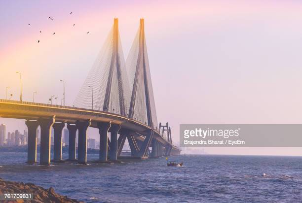 scenic view of sea against clear sky - mumbai stock pictures, royalty-free photos & images