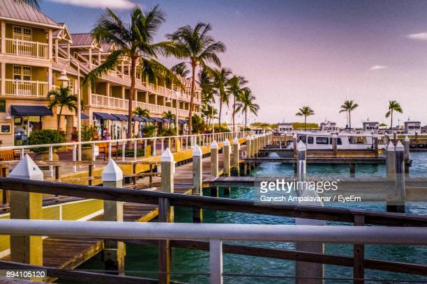 scenic view of sea against clear sky - key west stock photos and pictures