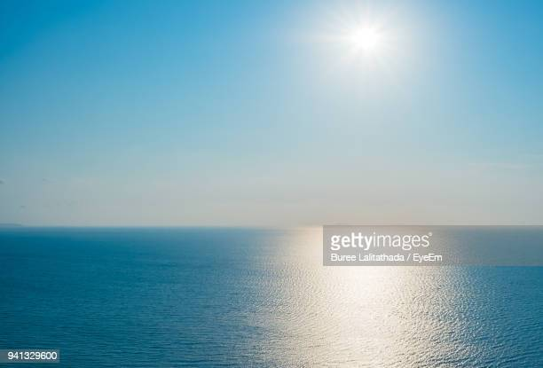 scenic view of sea against clear sky - clear sky stock pictures, royalty-free photos & images