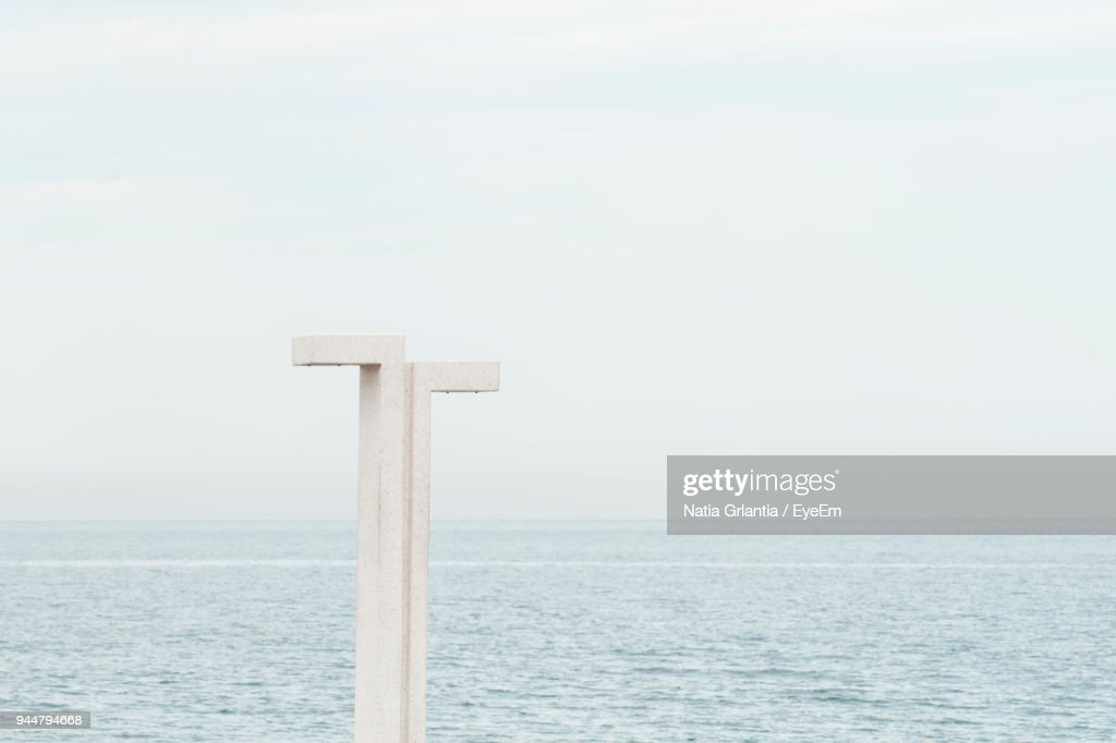 Scenic View Of Sea Against Clear Sky : Stock Photo