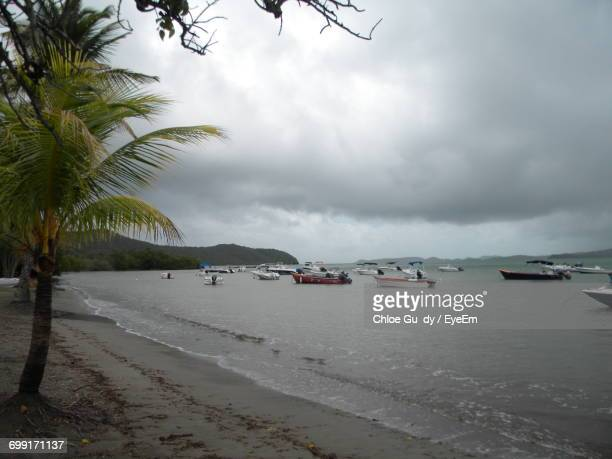 scenic view of sea against cloudy sky - french overseas territory stock pictures, royalty-free photos & images