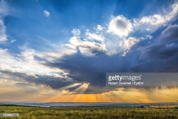 scenic view of sea against cloudy sky - idaho falls stock pictures, royalty-free photos & images