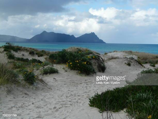 scenic view of sea against cloudy sky - whangarei heads stock pictures, royalty-free photos & images
